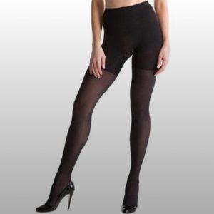 Spanx Light Weight Black Sheer Tights Size F NWT